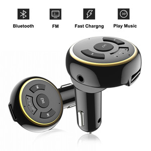Kit Car Bluetooth Carro Sem Fio Handfree MP3 / MP4 Player de Música Transmissor FM Adaptador de Rádio Modulador Adaptador de rádio Bluetooth Carregador de Carro