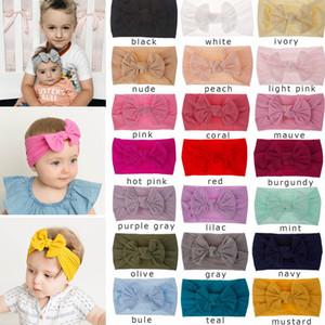 Bebek Düğüm Yay Bantlar Çocuk kız saç bandı Çocuk Şapkalar Butik saç aksesuarları 21 renkler Türban AAA1404