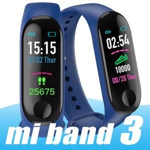 M3 intelligente Bracciale frequenza cardiaca Vigilanza Attività Fitness Tracker pulseira Relógios aria intelligente PK MI BAND 3 Smart braccialetto