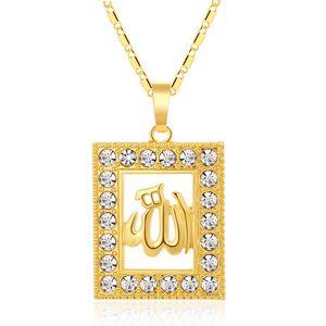 Moda Rhinestone Oriente Médio islâmico religioso muçulmano cadeia colar / pescoço for Gold / Silver cor Mulheres árabe jóias dom Bijoux