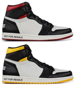 Haute Qualité 1 NRG NO L n'est pas pour la revente Pas de photos Chaussures de basket-ball Men 1S Blanc Rouge Black Jaune Jaune avec boîte