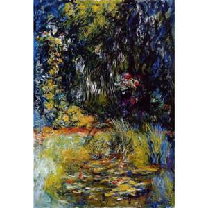 Ручная роспись пейзажи искусство водяной лилии Pond1 - Клод Моне картины маслом для домашнего декора