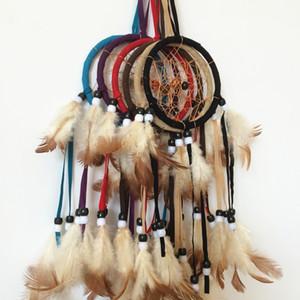 Kleine Traumfänger Feder Dekor hängende Partydekoration 6 Farben gemischt Whosale
