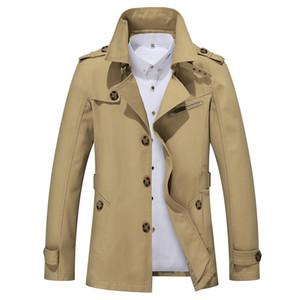 Legible para hombre del diseñador del foso capa de la manera capa de los hombres de otoño Delgado Marca para hombre chaqueta de abrigo de algodón rompevientos hombres Trench 4XL