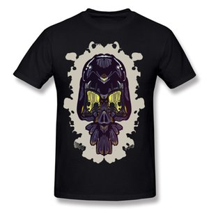 100% Baumwolle der neuen Ankunfts-Männer Mehr Schädel Noch keine Knochen T-Shirts Mens O-Ansatz-schwarze Kurzarm-T-Shirts S-6XL kühle T-Shirts