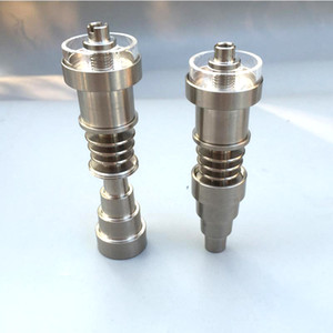 6 em 1 Titanium Dabber Quartz prego Quartz híbrido prego Titanium Conjunta 10/14/18 milímetros feminino e masculino ajuste 10 milímetros 16 milímetros 20 milímetros Enail