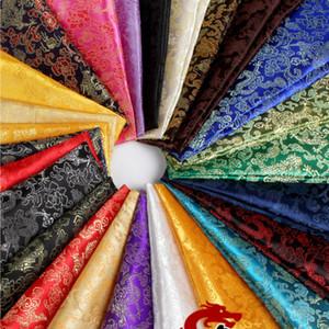 Traje de la antigua China Tang Han ropa de bebé kimono Cos brocado de seda de raso Dragón damasco Tela Ancho 90cm