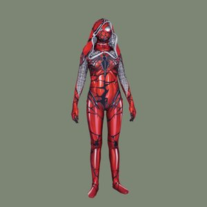 할로윈 의상 라이크라 여성의 독이 레드 망토 큰 스파이더 맨 코스프레 스타킹 스파이더 맨 여성을위한 의상 연극 무료 배송