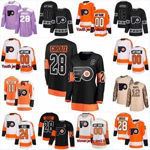 New Season Philadelphia Flyers 40 Weal 28 Claude Giroux 39 Tyrell Goulbourne 20 Taylor Leier 54 Oskar Lindblom Hockey Jersey