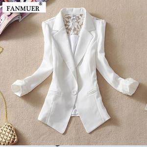 Fanmuer 2017 donne femminile giacca sportiva elegante tre quarti blazer manica donna capispalla vestiti delle donne giacca estiva