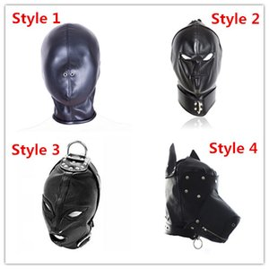 Adult Sex Toys Bdsm Bondage Head Restraint Cap Pu Leather Sex Hood Mask Slave Hood Toys For Couple Adult Head Gear Sex Products
