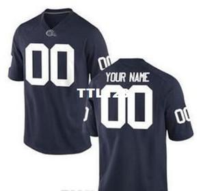 Hombre de encargo, la juventud, las mujeres, niño, Penn State Nittany Lionss personalizada cualquier nombre y número CUALQUIER TAMAÑO Jersey cosido de calidad superior de la universidad