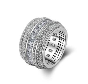 Exagérer Personnalité Designs Rose Pourpre Blanc Cuivre Platine Plaqué Bague Zircone Cubique Taille 6 - 10 Accessoires de bijoux femmes