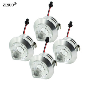 ZINUO 10pcs / lot 1W 3W Mini führte downlight Kabinett-Lampen geführtes vertieftes Kabinettpunktlicht Weiß, warmes Weiß AC85-265V