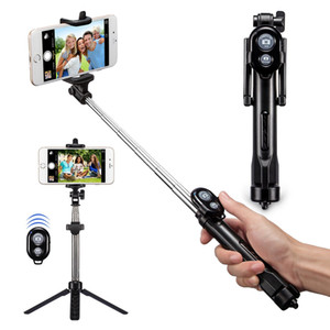 3 in 1 senza fili Bluetooth selfie Stick Mini selfie Cavalletto con telecomando per Smart cellulare portatile monopiede