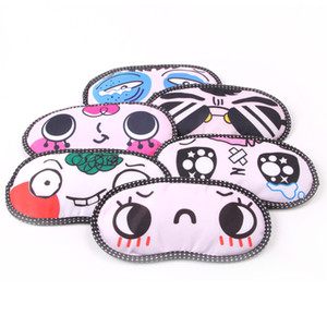 Cute Eyes Cover Sans Glace Sac Soft Cotton Nap Masque De Yeux Care Shade Blindfold Bandes Dessinées Sleeping Eye Mask Masque De Sommeil