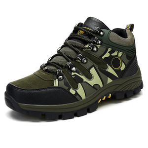 Autumn&winter Men Sneakers Outdoor Camouflage Soldiers Non-slip Hiking Shoes Waterproof Warm Snow Tactical Boots Trekking