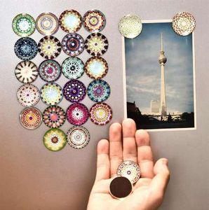 Flor de 5 piezas, buñuelo, insecto, imán de nevera, etiqueta engomada de la decoración del hogar, tenedor del mensaje al azar