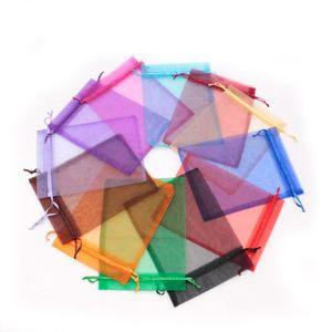 CheapHot Multi Farben Kundenspezifische 15x20 cm 100 stücke Organza Candy Schmuck Geschenk Taschen Hochzeit Medium Chirstmas Lagerung verpackungen