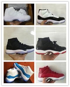 NIKE AIR JORDAN RETRO Toptan Midnight Lacivert YENI 11 Erkek basketbol ayakkabı Sneaker Spor Kırmızı Paten deri + Naylon 11 s kadınlar Açık atletik