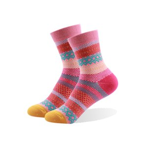 Designer Women Retro Socks Color Russia Nation Classic Vintage Striped Colorful Female Knit Novelty Wholesale Socks Warm Short Hot Sale