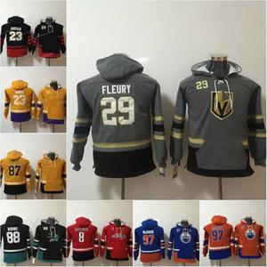 청소년 키즈 91 죤 타베라 Edmonton oilers 97 Connor McDavid Vegas Golden Knights 29 Marc-Andre Fleury Hockey Jersey Hoodies Sweatshirts