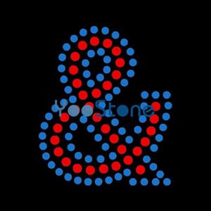 1,8 pouces de hauteur alphabet majuscule lettre fer de transfert de strass sur Hot Fix Motif 20pcs