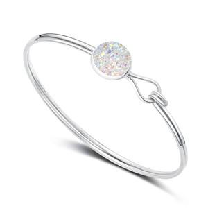 Top qualità braccialetto ametista acquamarina braccialetto di fascino citrino accessori in cristallo imitazione turchese pietra preziosa nastro braccialetto gioielli regali