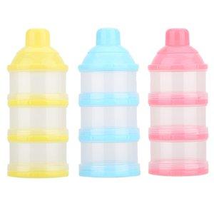 Portátil Leite Em Pó Fórmula Dispenser Recipiente De Alimento Caixa De Alimentação De Armazenamento para o Bebê Caçoa a Criança Três Grade Baby Food Storage Box