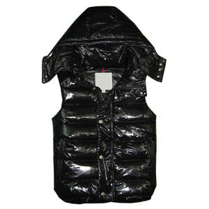 Nueva marca de los hombres clásicos invierno de las mujeres abajo concede las chaquetas Weskit pluma para mujer para hombre de la capa chalecos casuales abajo cubren el desgaste externo más tamaño: XS-XXXXL