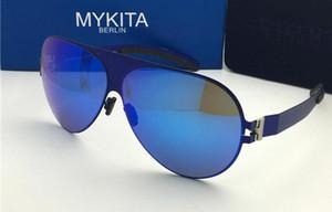 Mykita güneş gözlüğü ayna lens ile Franz pilot çerçeve ultralight çerçeve Bellek Alaşım boy güneş gözlüğü yaz tarzı serin açık tasarım