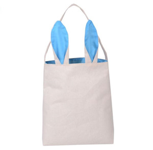 Easter Bunny Ears Bag Rabbit Ears Cotton Linen Basket Bag 25.5*30.5*10cm Packing Bags Handbag Tote Bags Child Festival Gift handbag
