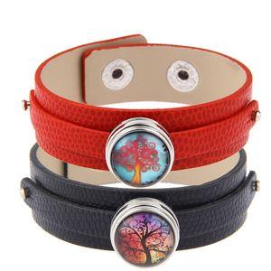 Più nuovo accessorio diverso 18mm Wristband Noosa Bracciali in pelle Chunks Snap Button Charm Bracciali Trendy Snap Button gioielli fai da te Regali