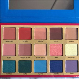 Venta caliente Denona Tropic paleta sombra de ojos cosméticos paleta 15 colores de sombra de ojos paletas resaltador maquillaje En stock