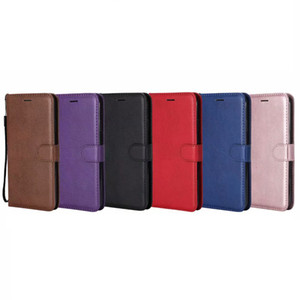 PU Wallet Leather Case For Iphone 12 Pro 11 XR XS MAX 8 7 6 SE 5 5S Galaxy Note 20 10 S20 Phone Flip Cover ID Card Slot TPU Book Pouch Strap