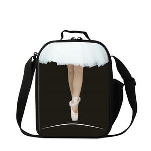 Ballet Dancing Girl Print Lunch Bag para estudiantes Small Cooler Lunch Box Bolsas de comida para niños Termales Picnic Bolsas Termica Lancheira Wholesale