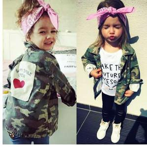 Yorkzaler Chicos Chicos Chaqueta Cardigan Moda Primavera Otoño Abrigos de camuflaje Cazadora para niños Ejército Abrigos