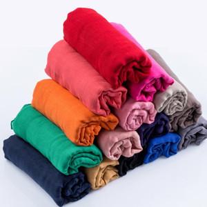 Femmes D'été Doux TR Coton Linge Foulards Sarong Rétro Glands Couleur Unie 180x60 Châles Femelle Mince Wraps Hijab Plage Écharpe De Fête 20Color