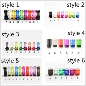 Colorido Plástico Gotejamento Ponta 510 810 Drip Tip Boca Plana Bocal Transparente Colorfur claro Para O Ego Atomizador Ego bateria