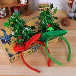 Arbre de Noël rouge vert conception Bandeau Taille libre Parti personnalité Bandeau Props Adulte Enfant Bandeau Chapeau Décorations