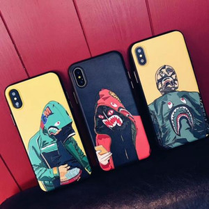 Hot Fashion Cool Men Shark Case per iPhone 11 12 Mini PRO X XS XR MAX 6 6S 7 8 PLUS SHARK Nowest Top Quality Matte Cell Phone Accessori