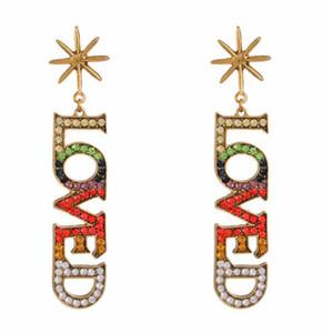 Boucles d'oreilles de mode Hotselling bijoux en diamant coloré boucles d'oreilles en pierre pour les femmes bijoux de mariage percé boucles d'oreilles livraison gratuite