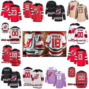 Nueva temporada New Jersey Devils Jersey 41 Michael McLeod 47 John Quenneville 58 Kevin Rooney 46 Blake Speers 37 Pavel Zacha Hockey Jerseys