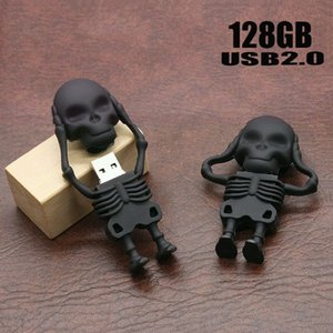 Usb Flash Drive Humen Skeleton Pen Drive Cartone animato U Disk Nuovo Design Memory Sticks 16GB Pendrive 8gb Cool Flash Card u46 NICE