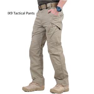 Yüksek Kalite Ucuz IX9 (II) Şehir Kargo Savaş Taktik Pantolon Erkekler Ordu Eğitim Pantolon IX7 Pamuk Cep Paintball Rahat Pantolon