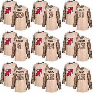 2018 Camo Gazileri Günü Steven Santini Damon Severson Sami Vatanen Ken Appleby Keith Kinkaid New Jersey Devils Özel Hokey Formalar