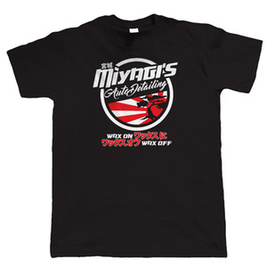 Miyagi 's Auto Detailing Mens Jdm 티셔츠 - Ae86 드리프트 핫로드 칼보기 New T 셔츠 웃긴 탑스 Tee 신품 남여 공용 무료 배송