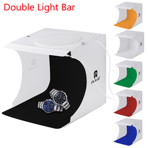 Quarto Light Box Mini Duplo LED Light Photo Studio Fotografia Lighting Shooting Tent Fundo Cube Box Photo Studio Dropship