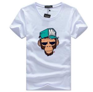 T-shirt dos homens Plus Size S-5XL Camiseta Homme Verão de Manga Curta Homens Camisetas Masculinas TShirts Camiseta Tshirt DX18