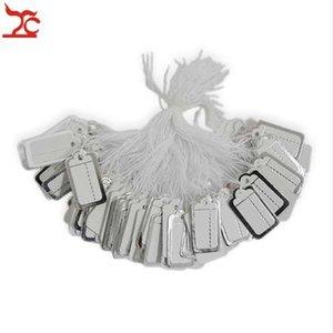 Toptan 1000 Adet Takı Strung Fiyat Etiketi Gümüş Kağıt Etiketler dize fiyat etiketi Gümüş etiketi